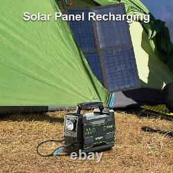 155 Watt Hr Portable Generator Solar Power Bank with AC Outlet Camping 42000mAh