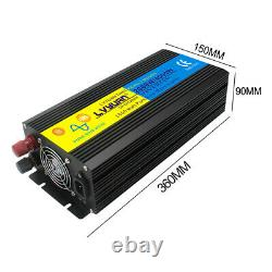 2000With4000W Pure Sine Wave Power Inverter 12V DC to 240V AC UPS Charger battery
