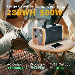 500W Solar Power Portable Generator Station with LED Light AC DC USB Outlets
