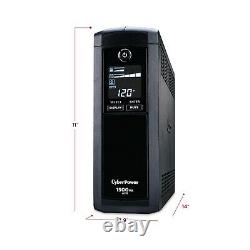 CyberPower Intelligent LCD Computer Battery Backup, 1500VA 900W UPS, 8 Outlets