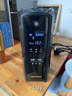 Cyberpower CP1500EPFCLCD-UK Line-Interactive UPS 2 USB Charging 900W